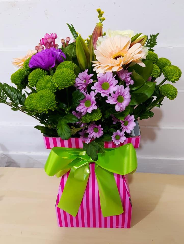 Floral Box Vase