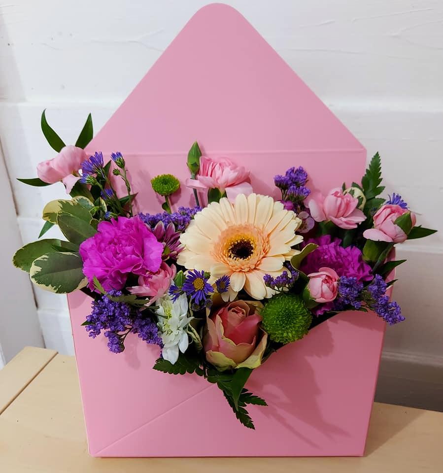 Envelope flower card