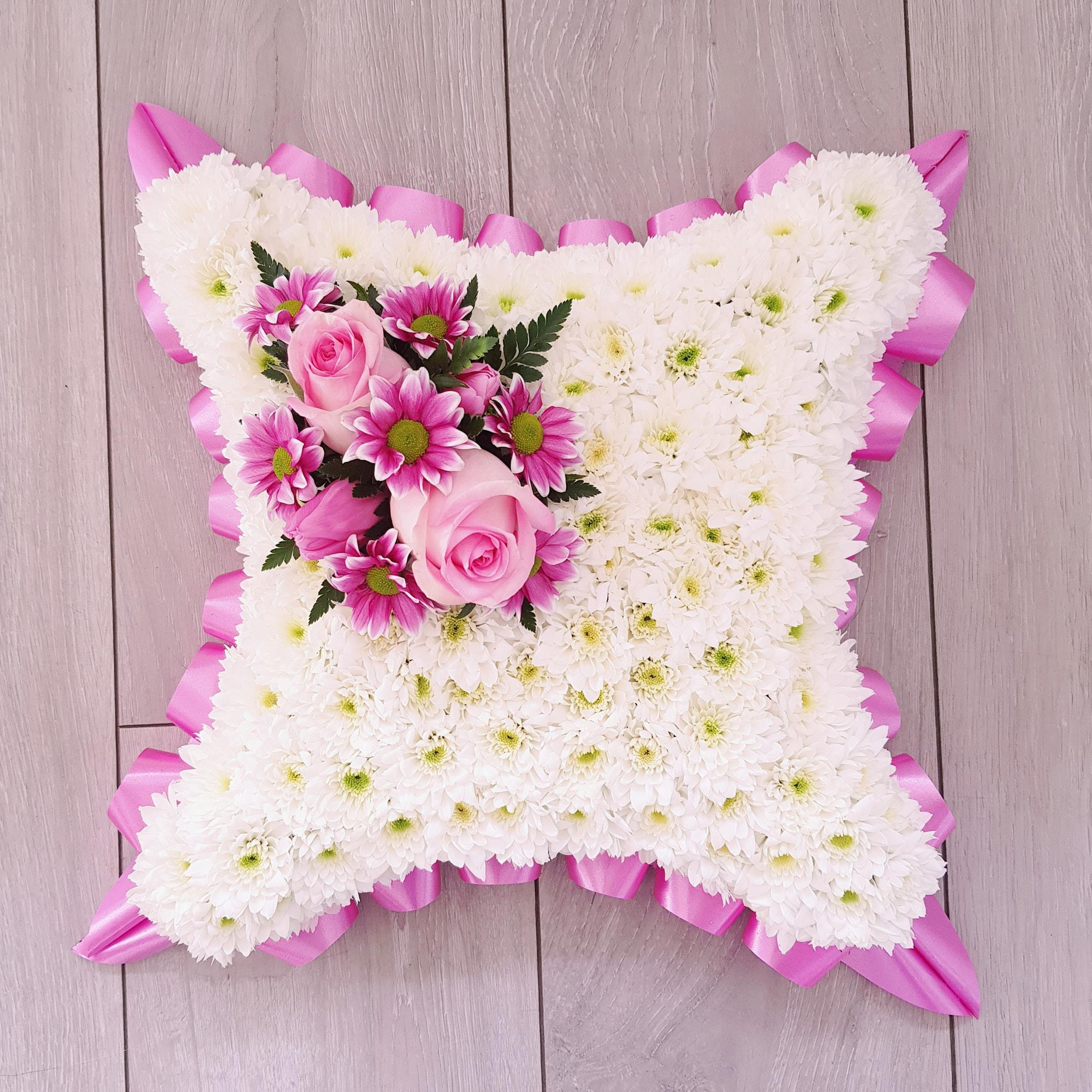 cushion funeral flowers