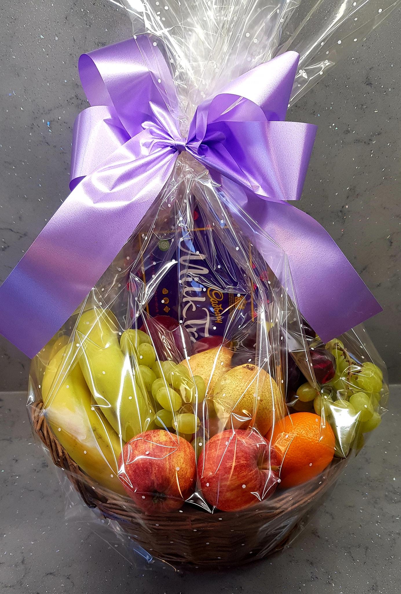 gift basket fruit and chocolate