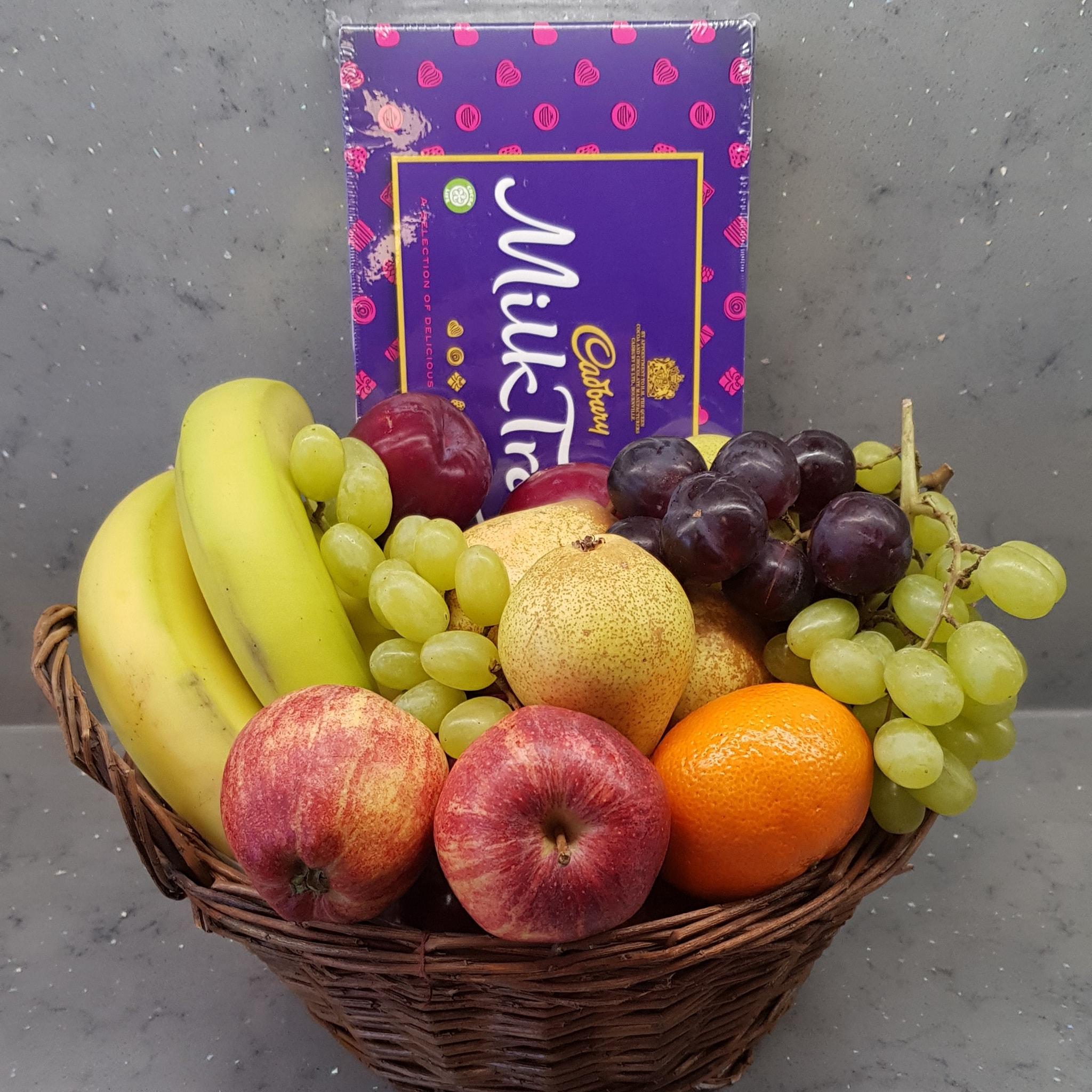 fruit and chocolate gift basket