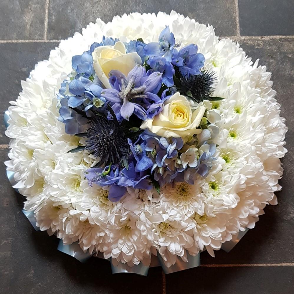 Baby blue funeral flowers carlisle